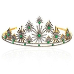 Diamond Crown 16.1 Ct Natural Certified Diamond Emerald 925 Sterling Silver Victorian Inspried
